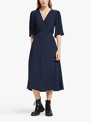 Somerset by Alice Temperley Wrap Midi Dress, Navy