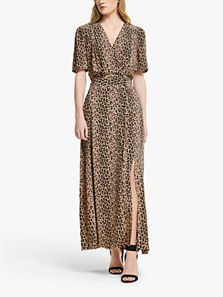 Somerset by Alice Temperley Animal Print Wrap Dress, Neutral