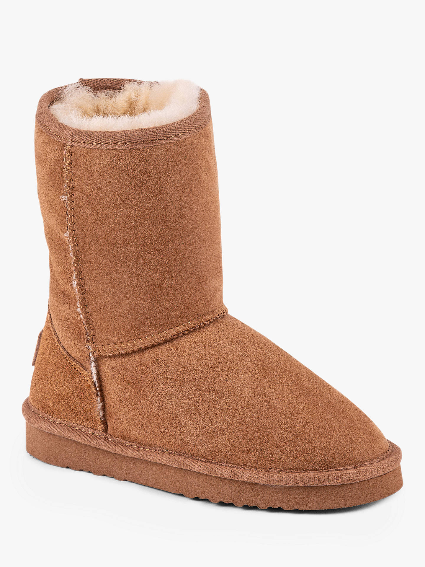Buy Just Sheepskin Classic Suede Boots, Chestnut, 13 Jnr Online at johnlewis.com
