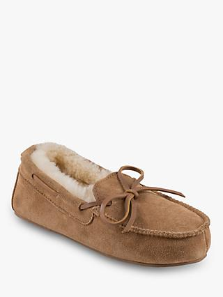Just Sheepskin Children's Torrington Slippers, Chestnut