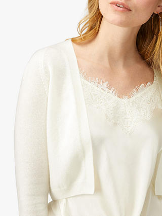 Buy Pure Collection Cashmere Shrug, Soft White, 10 Online at johnlewis.com