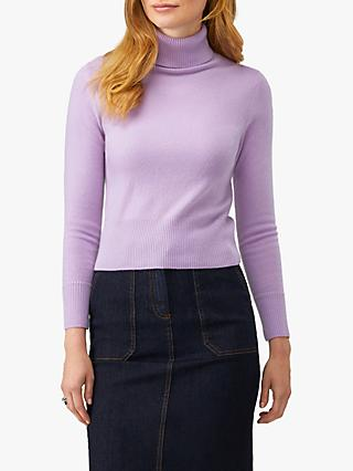 Pure Collection Cashmere Cropped Polo Jumper