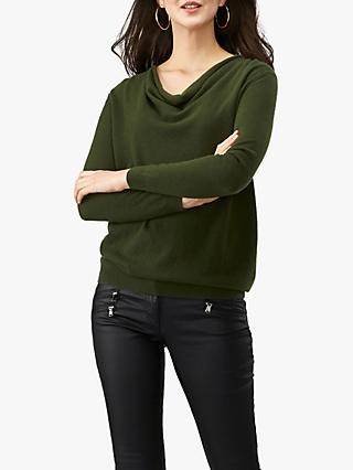 Pure Collection Drape Neck Cashmere Sweater