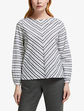John Lewis & Partners Cotton Stripe Top