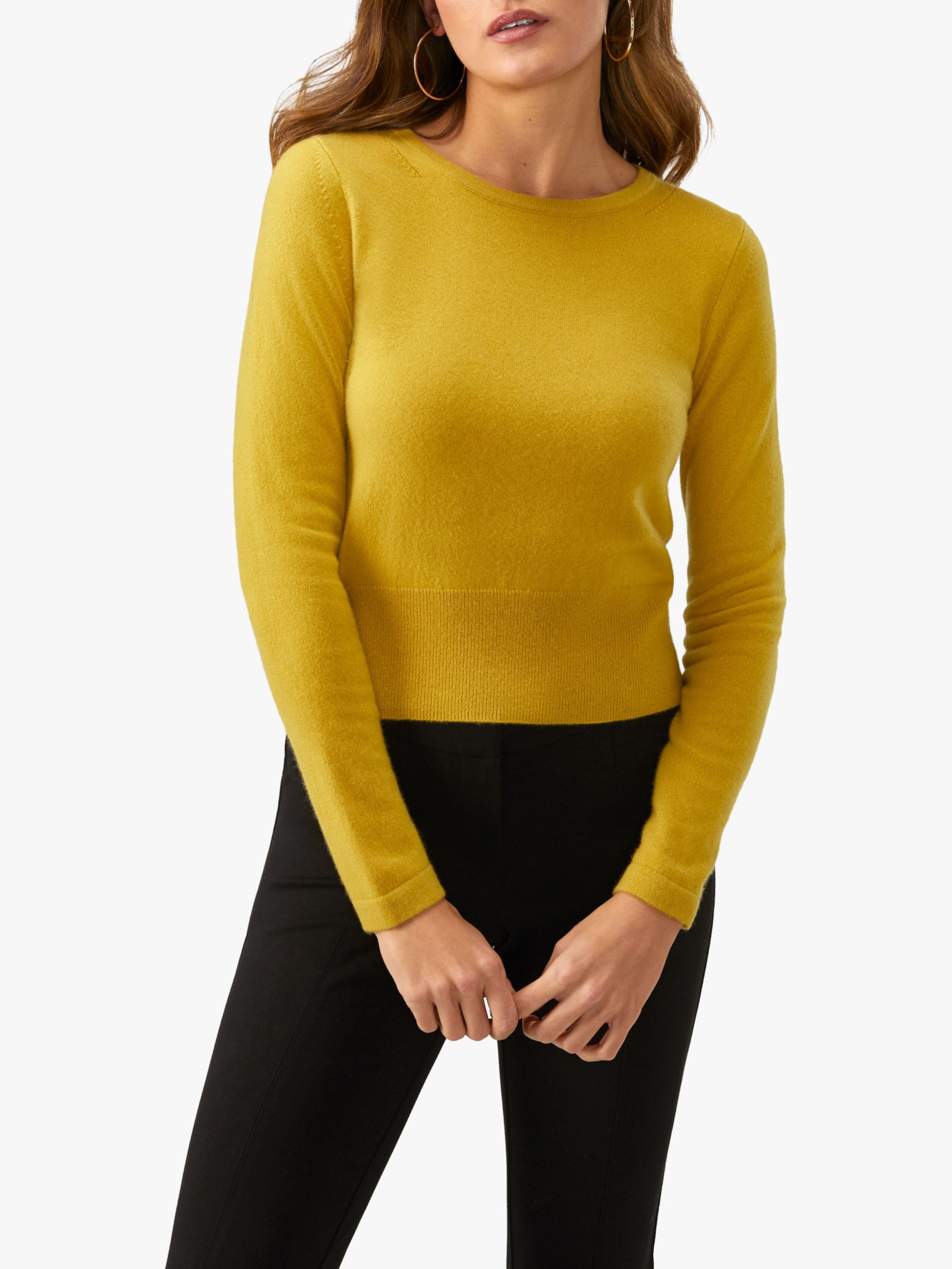 Pure Collection Pure Collection Cropped Cashmere Jumper
