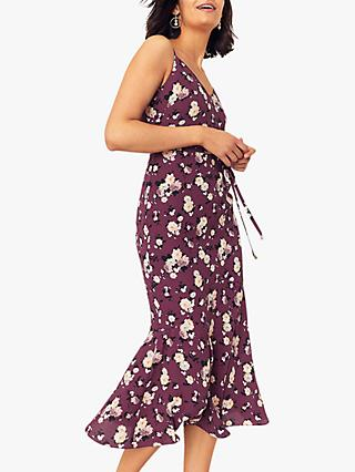 Oasis Rose Slip Dress, Burgundy
