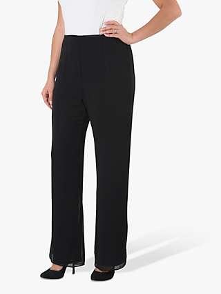 Chesca Chiffon Trousers, Black