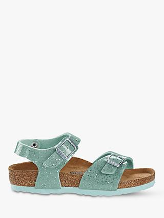 Birkenstock Children's Rio Glitter Buckle Sandals, Cosmic Sparkle Mineral