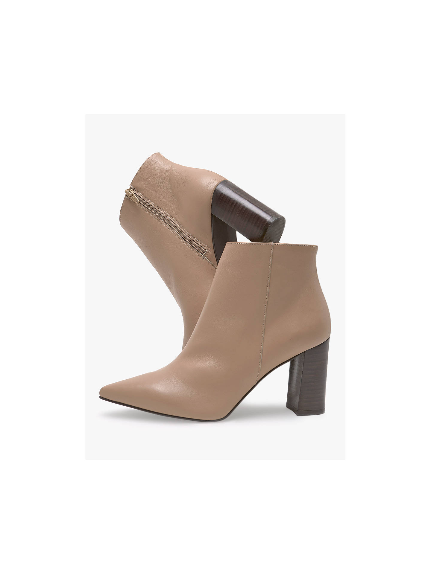 Buy Mint Velvet Melanie Leather Pointed Ankle Boots, Toffee, 8 Online at johnlewis.com