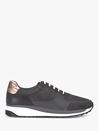 Mint Velvet Alina Trainers, Dark Grey
