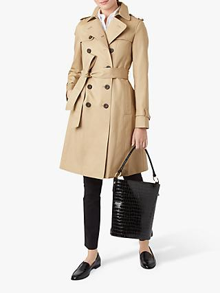 Hobbs London Saskia Trench Coat, Mocha