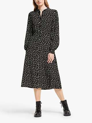 Somerset by Alice Temperley Star Print Midi Shirt Dress, Black/Multi