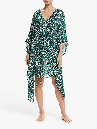 John Lewis & Partners Bellini Square Kaftan, Green/Multi