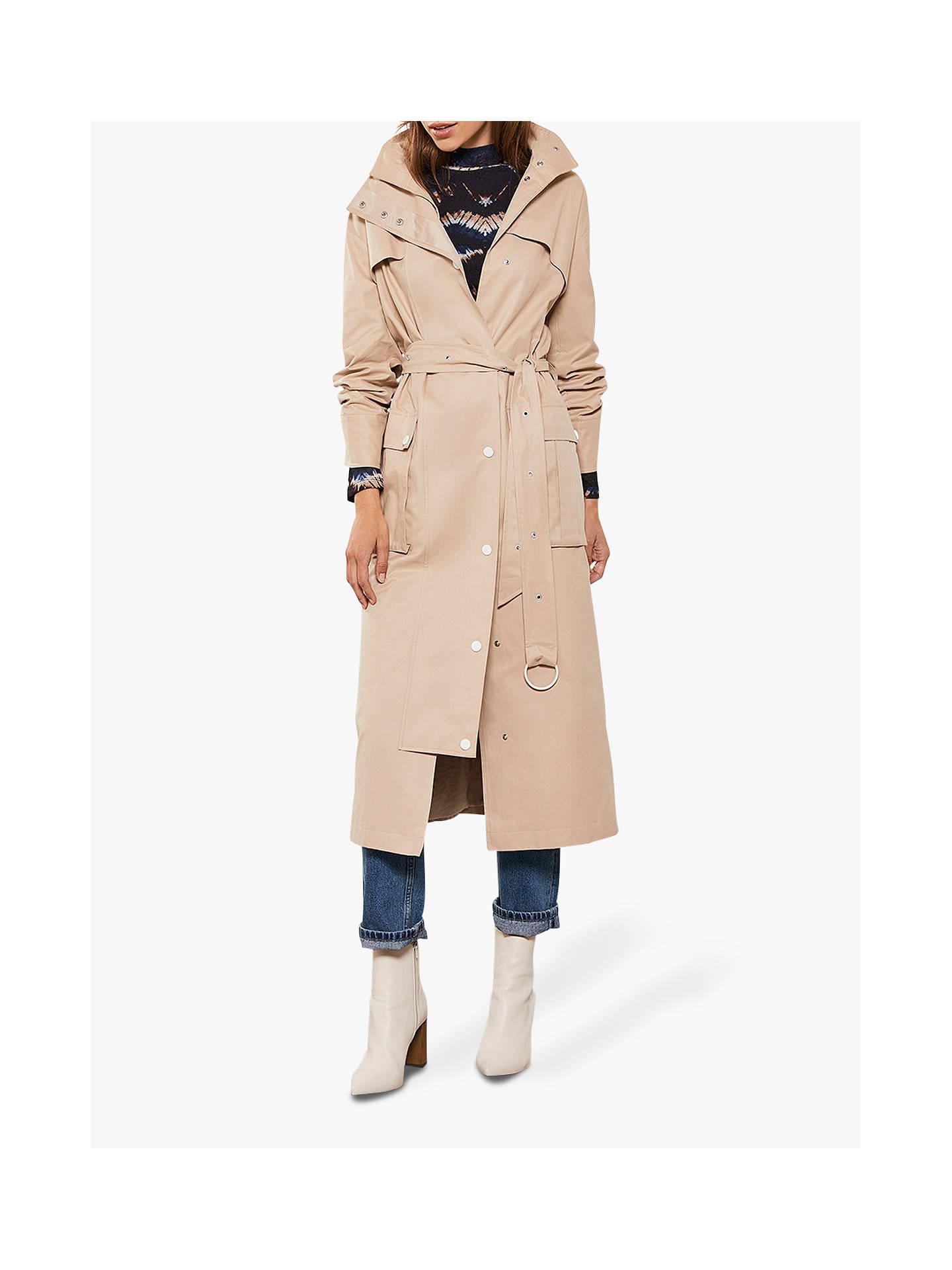 performance sportswear release date low price Mint Velvet Cotton-Blend Trench Coat, Beige