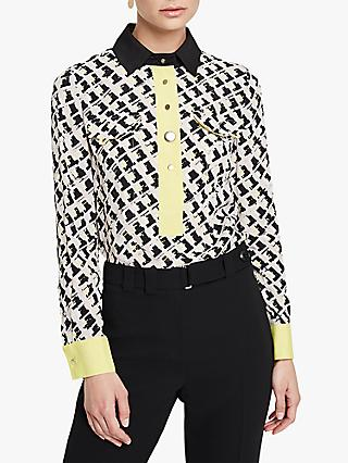 Damsel in a Dress Rachele Print Shirt, Black/Multi