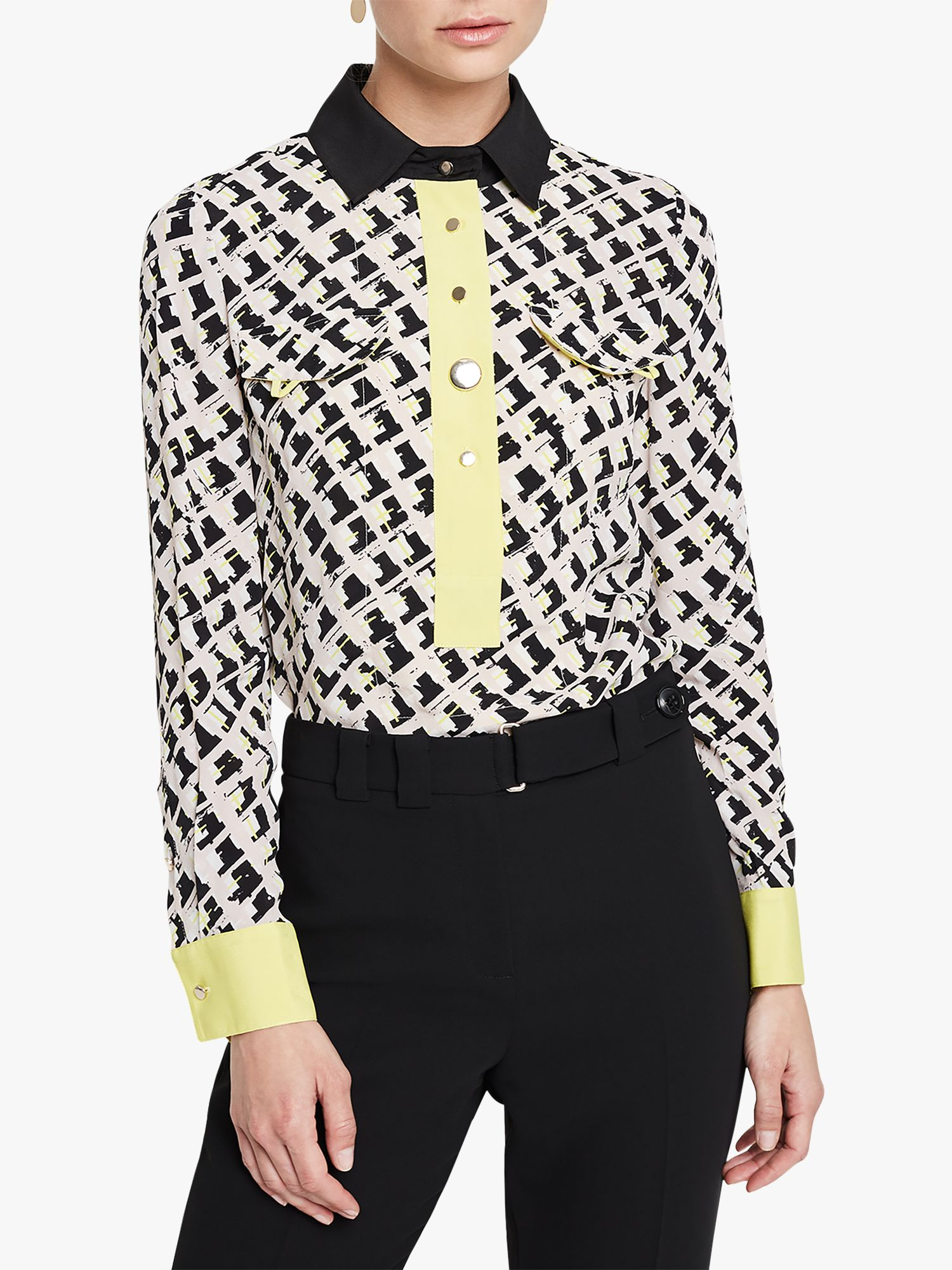 Damsel in a dress Damsel in a Dress Rachele Print Shirt, Black/Multi