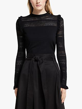 Somerset by Alice Temperley Pointelle Knit Top