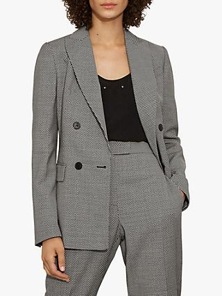 Karen Millen Chevron Tailored Blazer, Multi