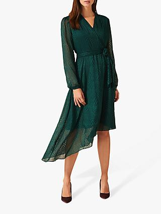 Phase Eight Jenifer Clipped Dress, Pine Green