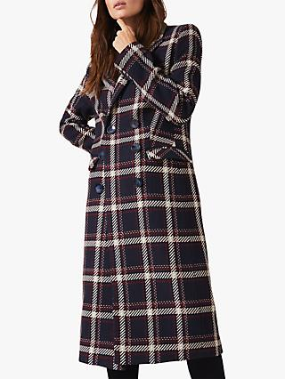 Phase Eight Candice Check Coat, Multi