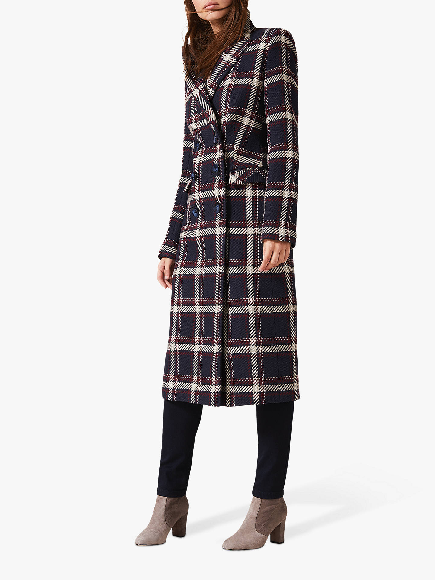 Buy Phase Eight Candice Check Coat, Multi, 8 Online at johnlewis.com