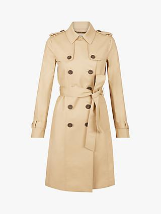 Hobbs Petite London Saskia Trench Coat, Mocha