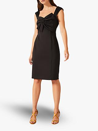 Phase Eight Giulia Bow Dress, Black