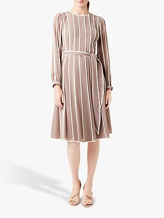 Hobbs Rosemond Dress, Porcini/Ivory