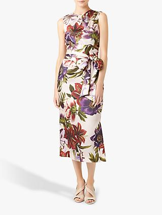 Hobbs Thao Floral Dress, Blush Multi
