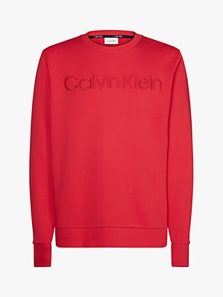 Calvin Klein Athleisure Logo Sweatshirt, Racing Red