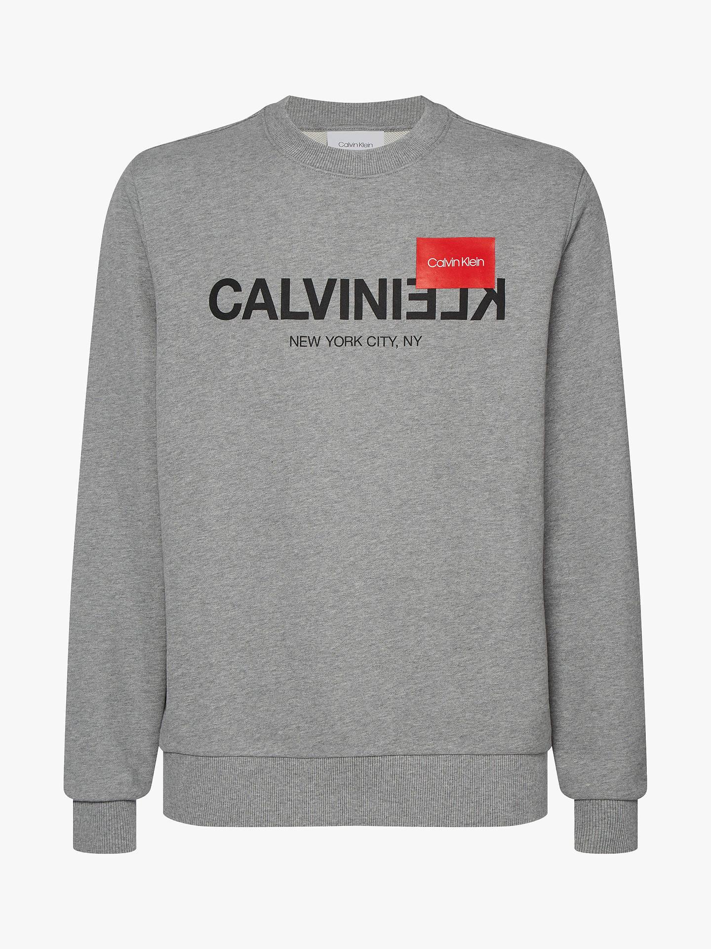 calvin klein sweatshirt reverse text