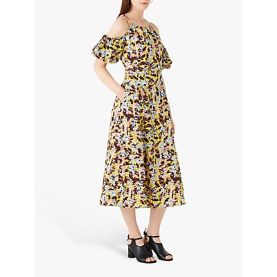 Finery Essendine Cold Shoulder Floral Dress, Multi
