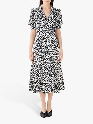 Finery Elizabeth Ruffle Tailored Dress, Black/White