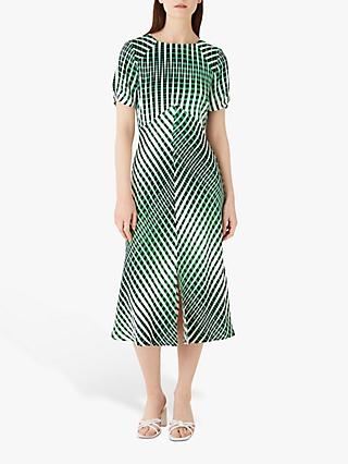 Finery Emina Abstract Print Dress, Green Multi
