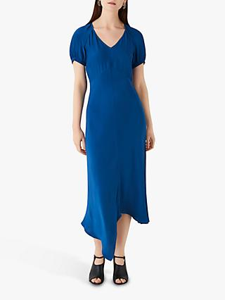Finery Harley Satin Midi Dress, Royal Blue