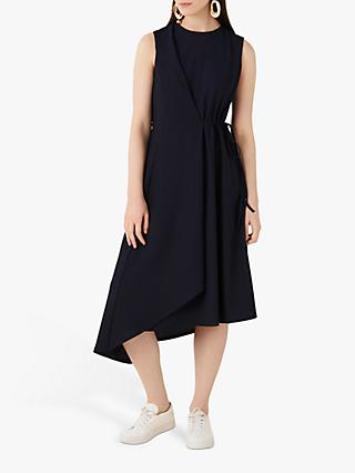 Finery Marston Jersey Tie Dress, Navy