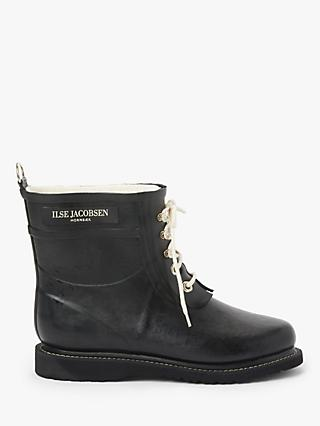 Ilse Jacobsen Hornbæk Short Rubber Lace Up Boots