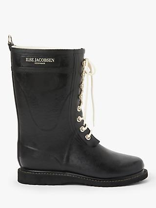 Ilse Jacobsen Hornbæk 3/4 Rubber Lace Up Calf Boots