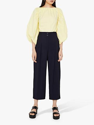 Warehouse Twill Wide Cropped Trousers