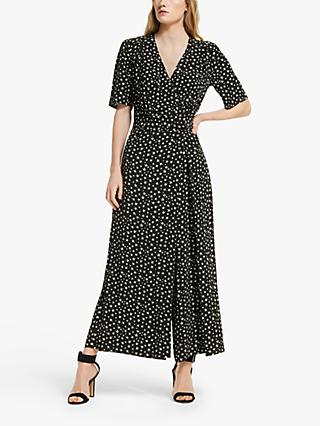Somerset by Alice Temperley Star Print Jumpsuit, Black/White