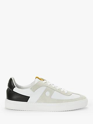 It's All Good Folk Court Sneaker, White/Yellow/Black