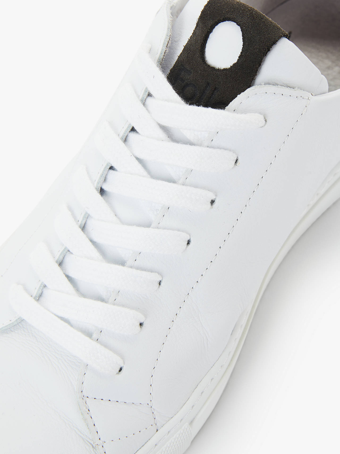 Buy It's All Good Folk Mid Leather Sneaker, White/Charcoal, 8 Online at johnlewis.com