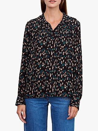 Gerard Darel Chemisier Blouse, Black/Multi