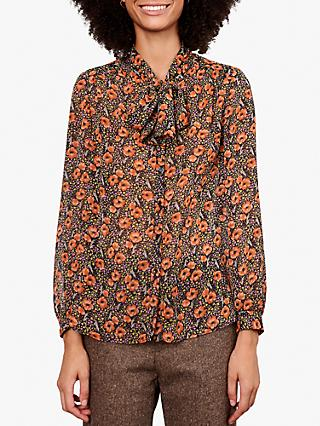 Gerard Darel Chemise Tie Neck Blouse, Multicolor