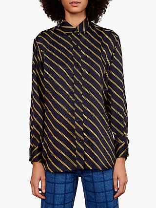 Gerard Darel Mea Striped Blouse, Blue