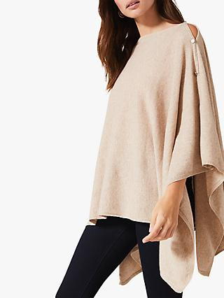 Phase Eight Noa Cashmere Poncho, Navy