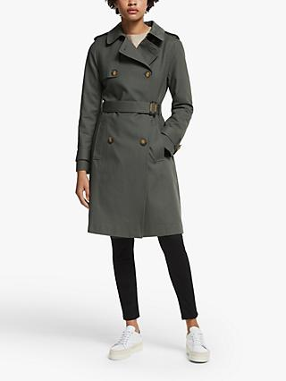 John Lewis & Partners Double Breasted Classic Trench Coat