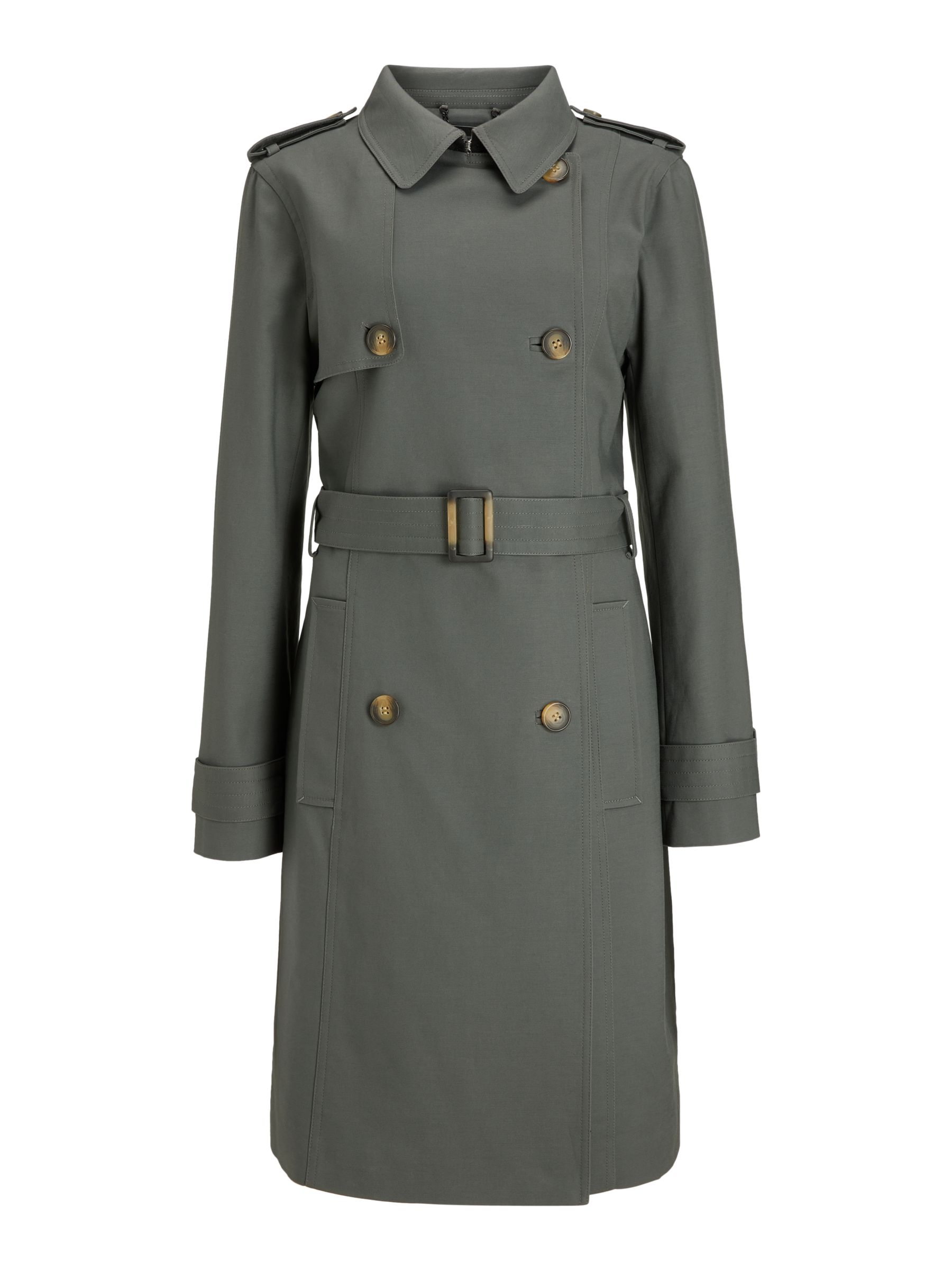 Buy John Lewis & Partners Double Breasted Classic Trench Coat, Khaki, 8 Online at johnlewis.com