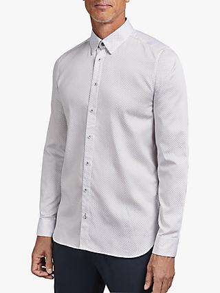 Ted Baker T for Tall Tomastt Micro Geometric Print Shirt, White