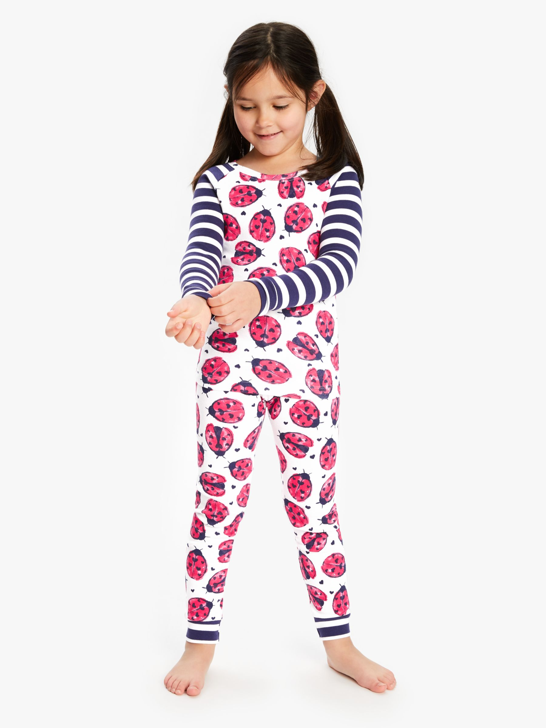 Hatley Hatley Girls' Lovebugs Print Pyjamas, Multi